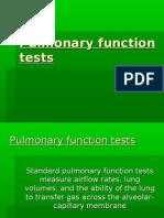 Respiration 3...Pulmonary function tests