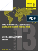Amnesty International - Eritrea rapporto 2013