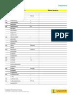Treffpunkt Beruf Wortschatzliste Bau