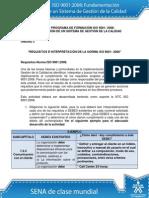 Actividad de Aprendizaje Unidad 3 Requisitos e Interpretación de La Norma ISO 90012008 Ok