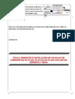 036 Remocion e Instalacion de Valvulas de Compuertas