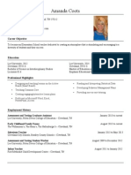 resume for teaching 2014