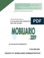 Catálogo de Mobiliario IMSS
