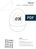Brookstone Bobble Clock Manual