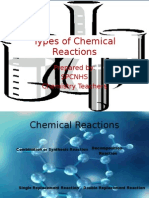 Types Of Chemical Reaction Worksheet Practice Answers