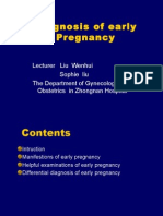 diagnosis of early pregnancy