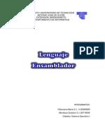 Sistema Operativo I Lenguaje Ensamblador
