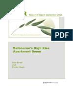 Melbourne High Rise Boom