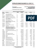 Explosión de Insumos de Presupuesto CEAS
