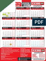 Calendario Escolar Extreamdura 2013-2014