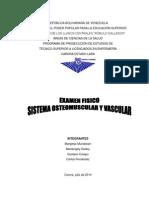 Examen Fisico Sistema Osteomuscular y Vascular