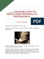 Cele Mai Bune Carti de Dezvoltare Personala Si Profesionala - Lorand Soares Szasz
