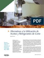 Alternativas a La Utilización de Aceites y Refrigerantes de Corte