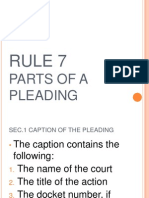RULE 7 of the Rules of Court New (FINAL)