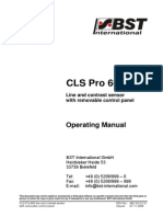 BST CLSPro 600 User manual