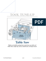 10 -Table Saw Tuneup