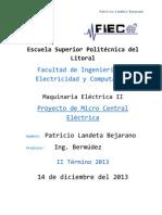 Proyecto de Micro Central Eléctrica - Patricio Landeta B