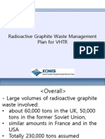 Radioactive Graphite Waste Management Plan for VHTR