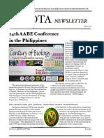 BIOTA -  Newsletter 2013