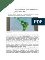 América Latina No Tendrá El Nivel de Bienestar de Los Países Ricos Hasta 2052