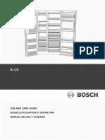 BOSCH Fridge Manual