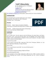 As of May 26 - Writer Resume