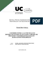 Contribuciones a Las Técnicas No Destructivas Para Evaluación y Prueba de Procesos y Materiales Basados en Radiaciones Infrarrojas