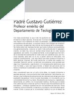 Gustavo Gutiérrez. Profesor Emérito