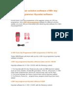 obd2repair solution software x100+ key programmer Hyundai software