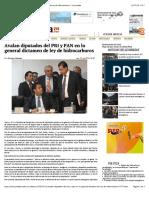 21-07-14 Avalan diputados del PRI y PAN en lo general dictamen de ley de hidrocarburos