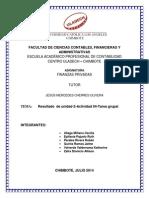 Resultado II Unidad Finanzas