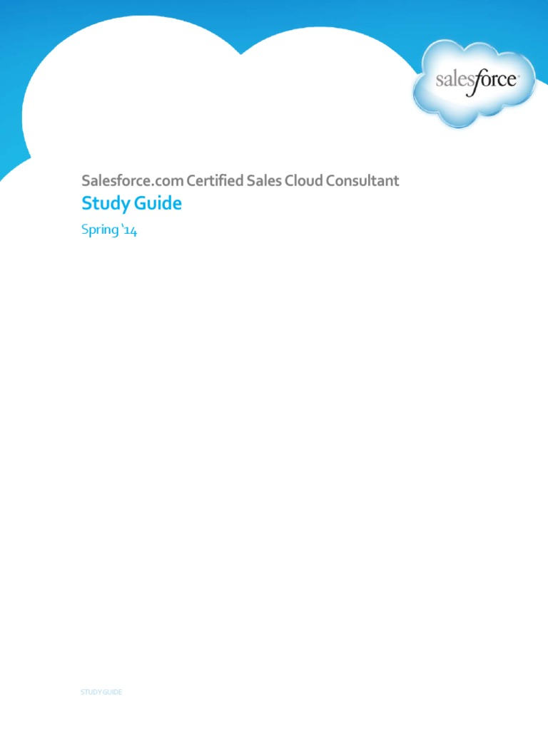 Salesforce Certified Sales Cloud Certification Salesforce