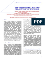 THE EREA VISION ON HIGH PRIORITY RESEARCH  AXES TOWARDS AIR TRANSPORT SYSTEM 2050