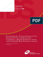 Estimating the National Impact of the Financial Crisis in Indonesia