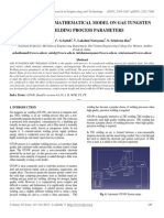 Development of Mathematical Model on Gas Tungsten Arc Welding Process Parameters