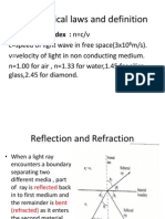 Basic Optical Laws and Definition