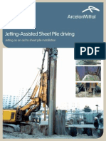 Jetting assist Pile driving
