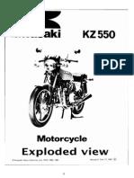 Despiece Kawasaki - KZ 550