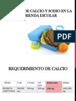 Consumo de Calcio y Sodio en La Merienda Pp