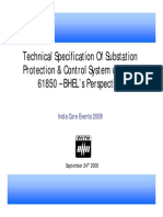 BHEL Technical Specification of Substation Protection Control System