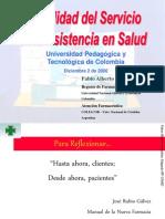 Lacalidaddelservicioaplicadoalaasistenciaensalud 091218163756 Phpapp01(2)