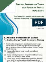 Strategi Pembebasan Tanah dan Perijinan Proyek Real Estat. Pengantar Modul
