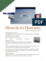 hurricane menu