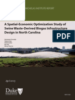 A Spatial Eco Optimization Study Swine-study of Swine Waste -Derived Biogas