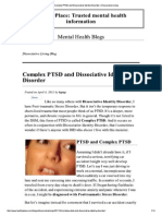 Complex PTSD and Dissociative Disorder