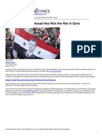 The Fiscal Times - With Latest Victory, Assad Has Won the War in Syria - 2014-03-05