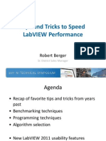 Tips and Tricks to Speed LabVIEW Performance