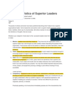 10 Characteristics of Superior Leaders