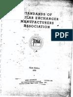 Standards of Tubular Exchanger Manufacturers Association CODIGO TEMA