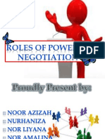 Roles of Power in Negotiation